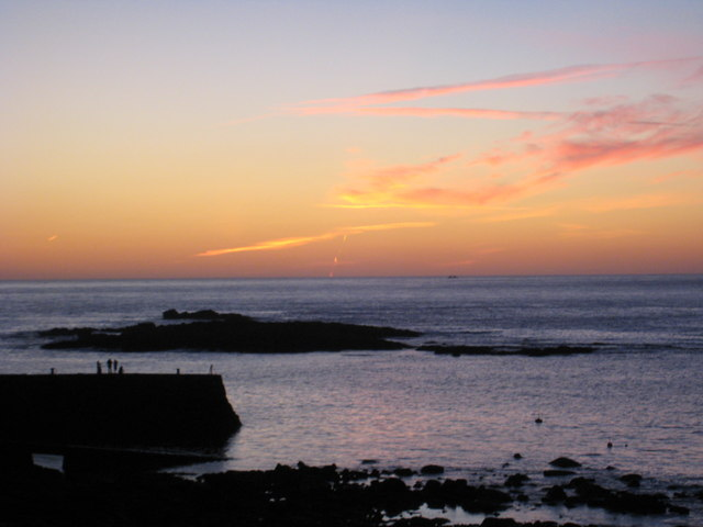 July sunset over The Cowloe Sennen Cove