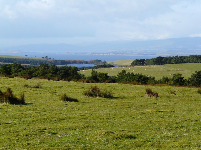 Looking towards Bayfield Loch, with Invergordon beyond