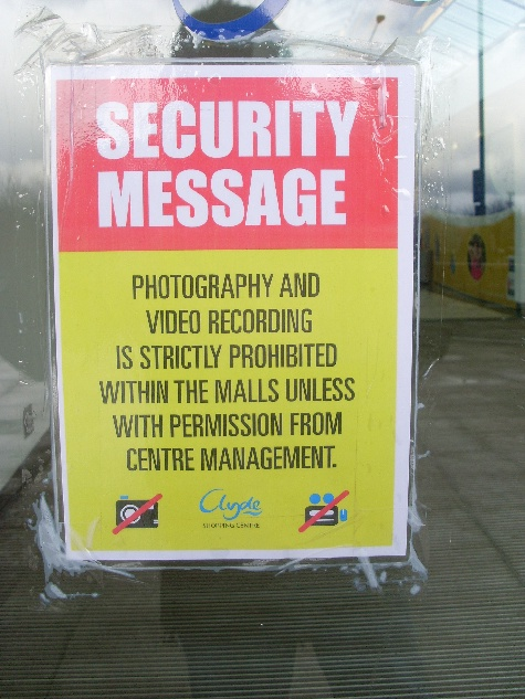 New security measures at Clyde Shopping Centre, Clydebank