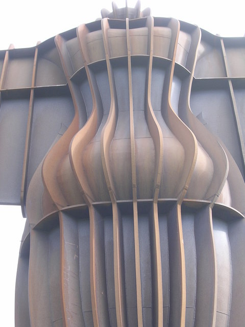 Detail of the Angel of the North