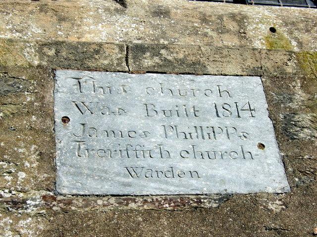 1814 church date stone