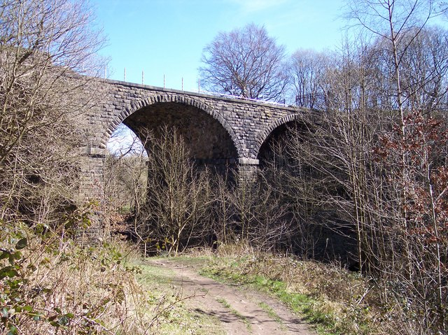 Disused Railway Bridge on River Ogden