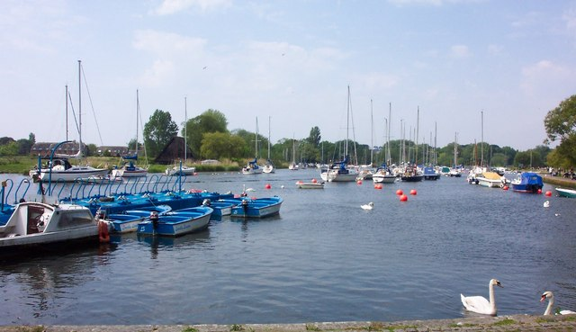 Boats in The River Stour-Christchurch