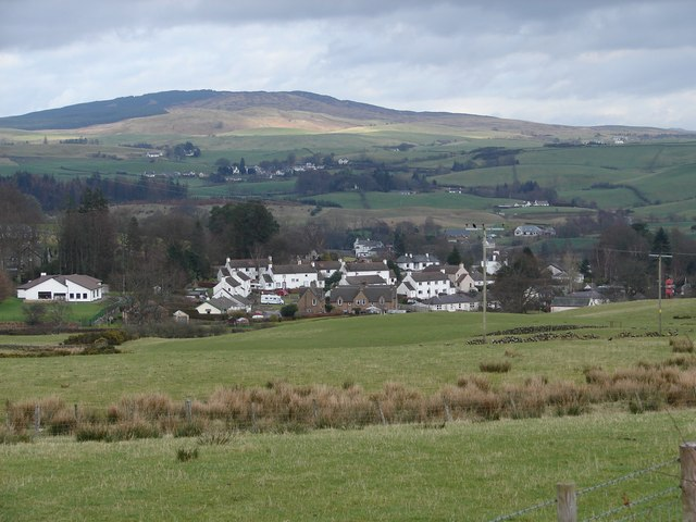 New Galloway: View from Old Edinburgh Rd