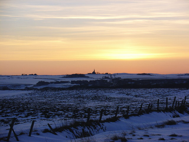 Sunset Over Snowfields