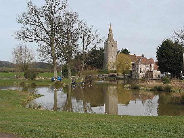 Lone angler at Staunton Court