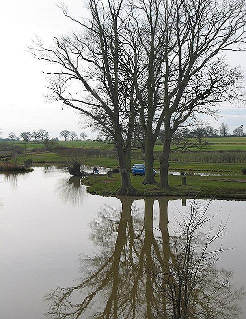 A lake to himself
