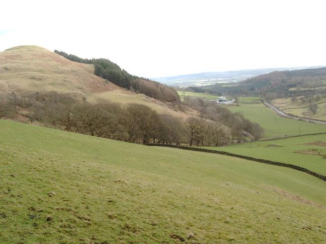 Tynron Doon to the left and Clonrae Farm below