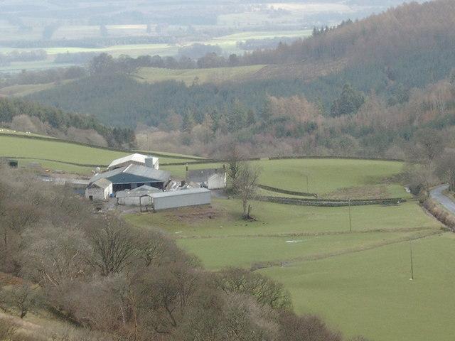 Clonrae Farm as seen from Craigturra