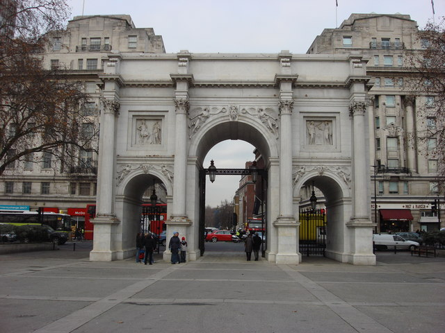 Marble Arch, south frontage