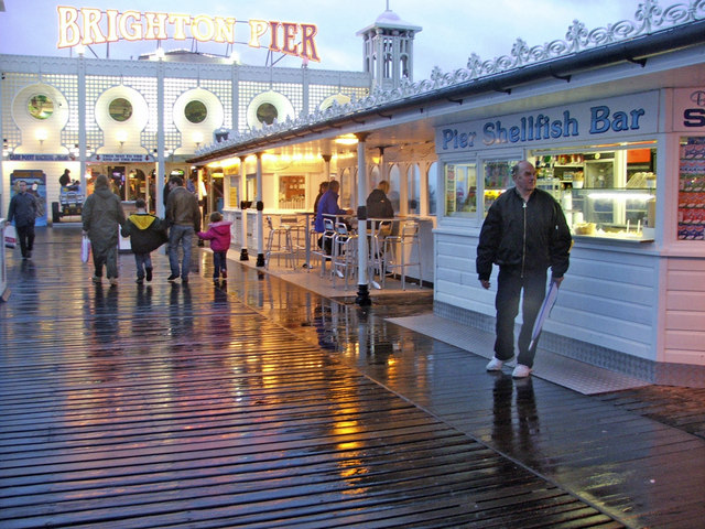 Pier Shellfish Bar, Brighton Pier, East Sussex