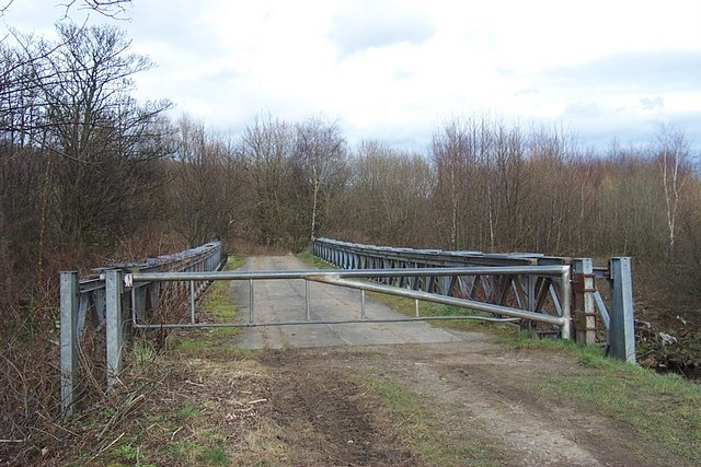 Footpath over Bailey Bridge, Cromwell Bottom Nature Reserve