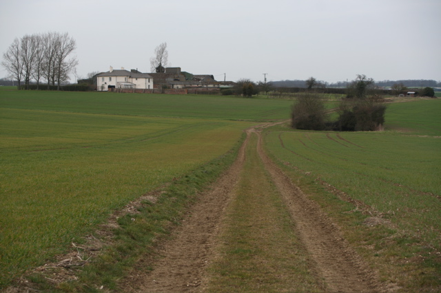 Track leading to Langley Lawn Farm