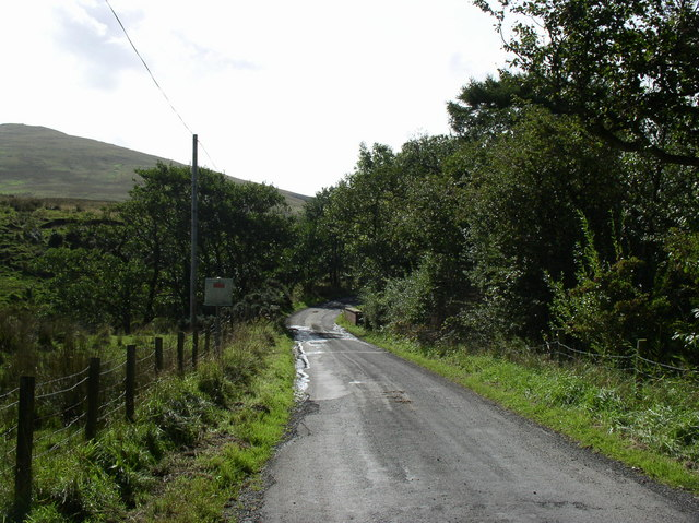 Road to High Ballochdowan Farm
