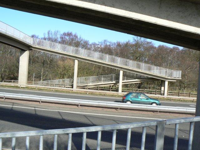 Angular footbridge