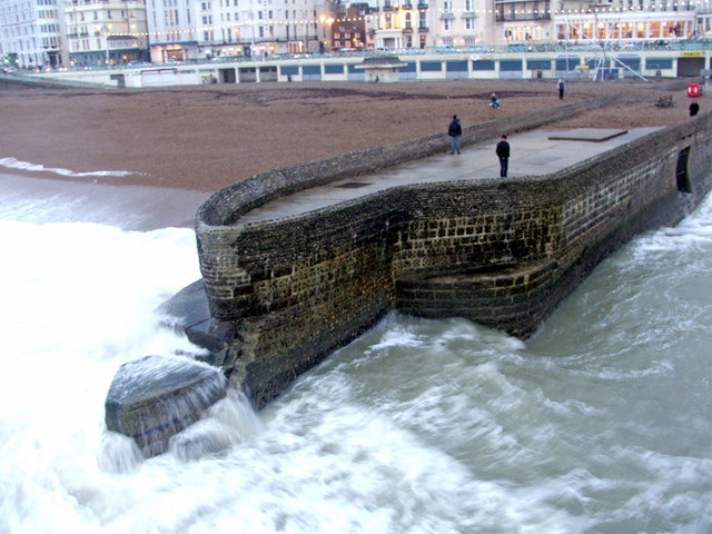 Waiting for the Wave at Brighton, East Sussex