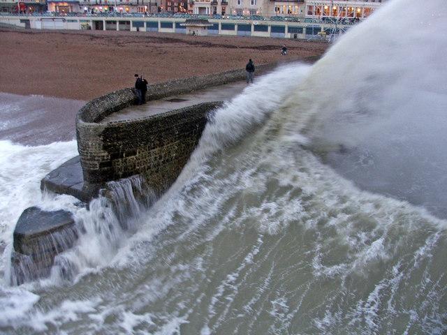 Rough Sea at Brighton, East Sussex