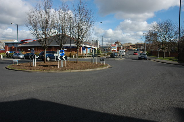 Roundabout near St Martin's Gate