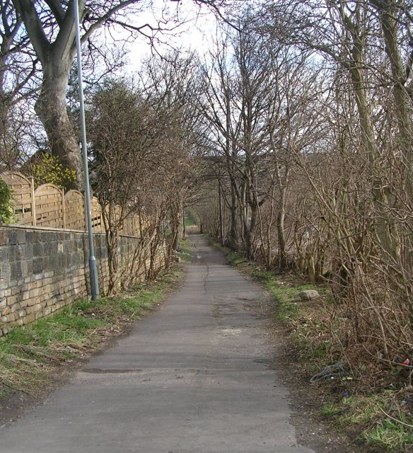 Footpath - Syke Lane, Earlsheaton