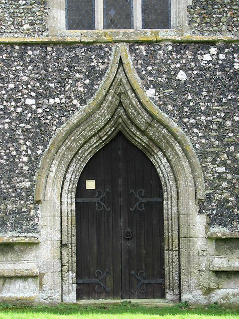 The church of St Nicholas - west doorway