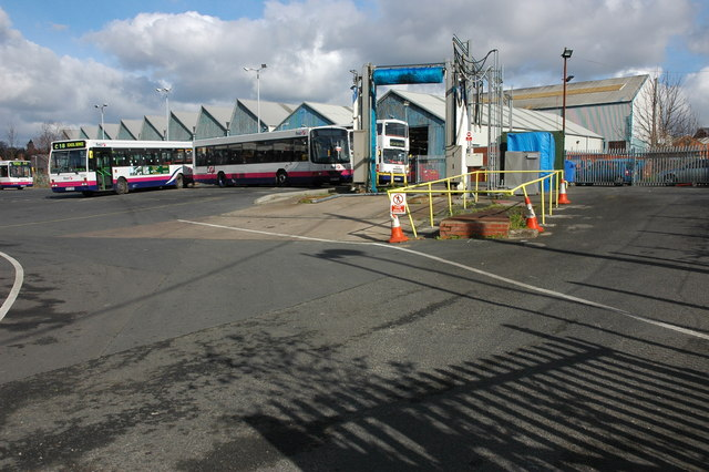 Bus depot, Worcester