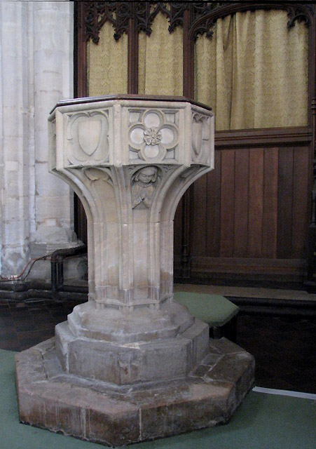 The church of St Nicholas - baptismal font