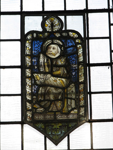 The church of St Nicholas - medieval glass detail