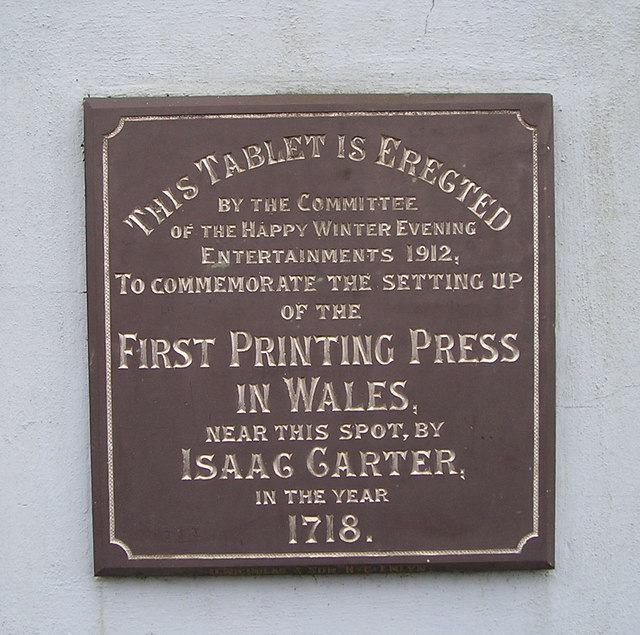 First Printing Press in Wales