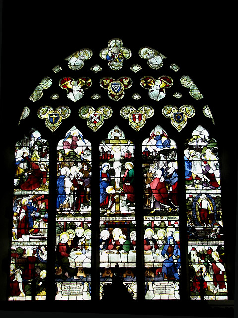 The church of All Saints - east window