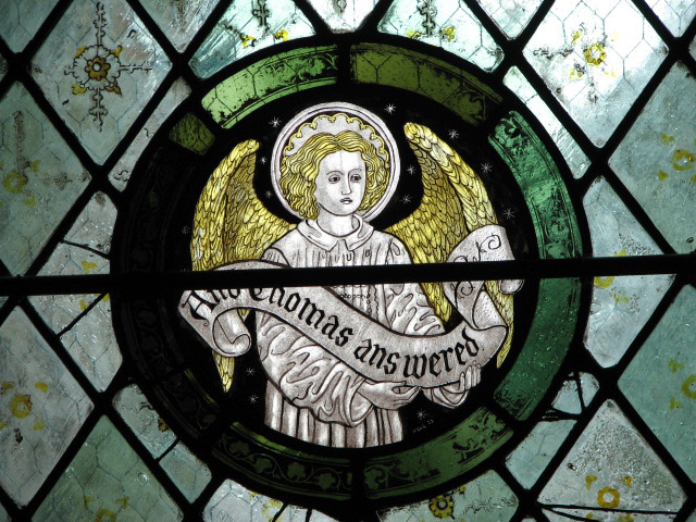 The church of All Saints - glass roundel