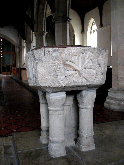 The church of All Saints - baptismal font