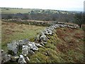 SX2470 : Twisting wall below Tregarrick Tor by Derek Harper
