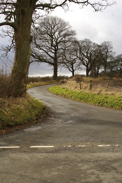 Road to Bonnytoun farm