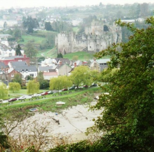 Chepstow Castle from across the Wye