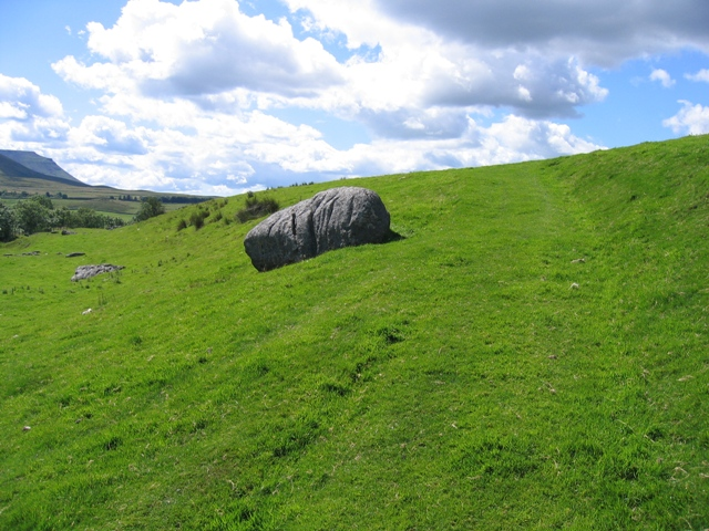 The Ribble Way and a significant boulder