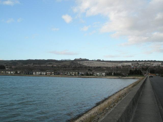 Looking back along Port Solent path