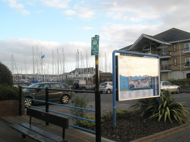 Information signs at Port Solent