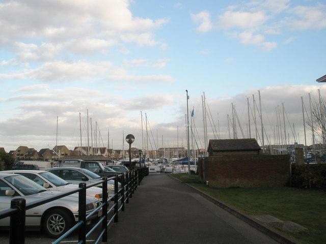 Port Solent Marina in February
