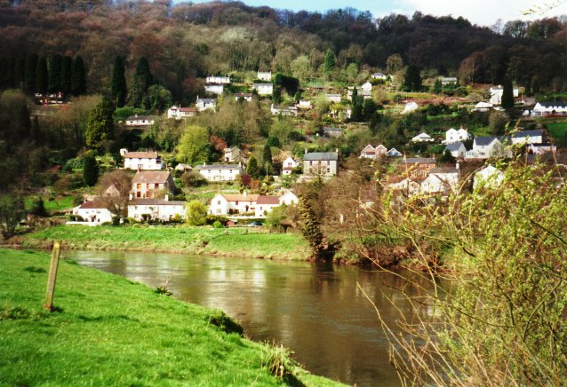 Llandogo from across the Wye