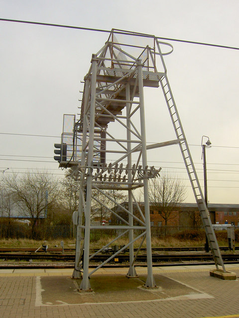 Signal gantry Newark Northgate Railway Station