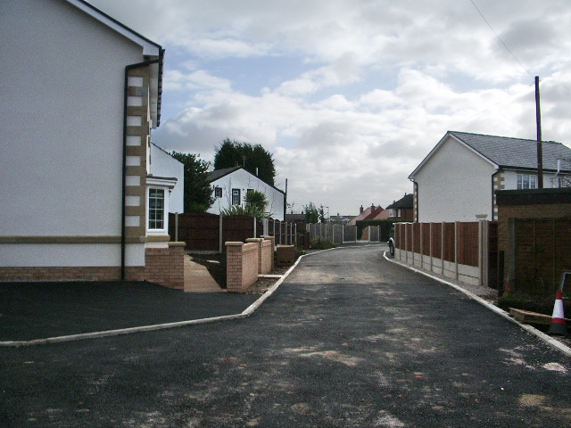 New houses on Waters Nook Road, Westhoughton