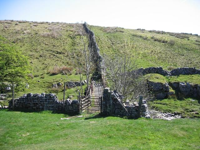 Private footbridge over Thorn Gill