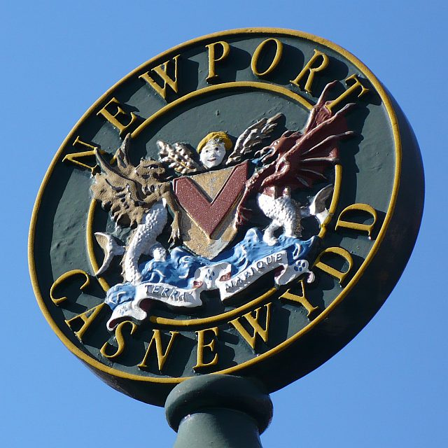 Newport Coat of Arms, Stow Hill