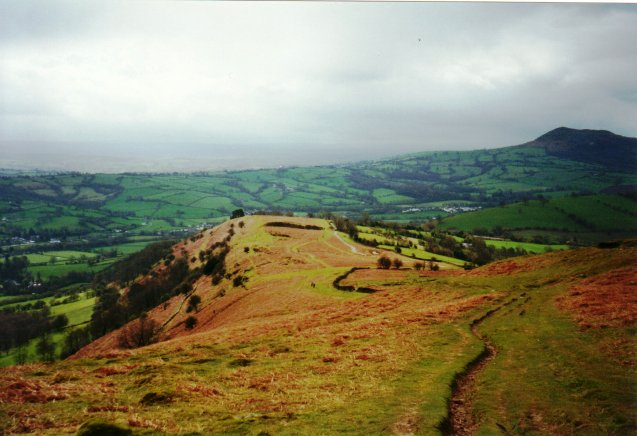 Offa's Dyke Path descent towards Pandy