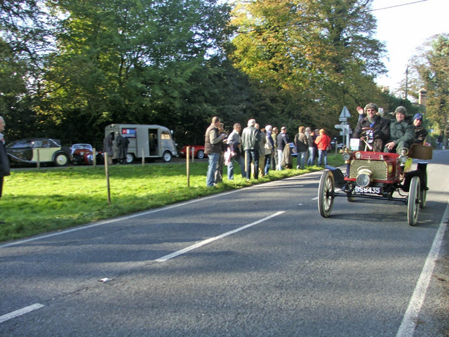 Staplefield Village Green with B2114 and 1904 Rambler