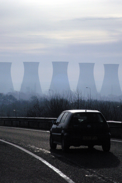 A50 sliproad and Willington cooling towers