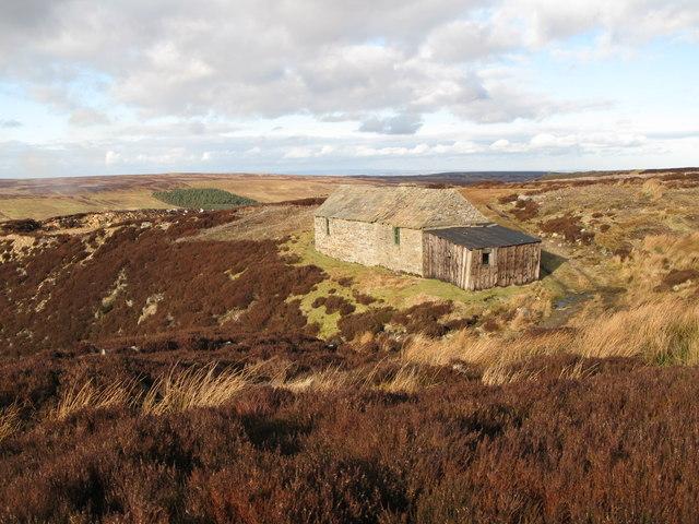 Shooting cabin on Hunstanworth Moor