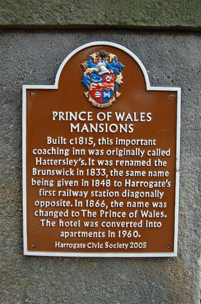 Prince of Wales Mansions plaque