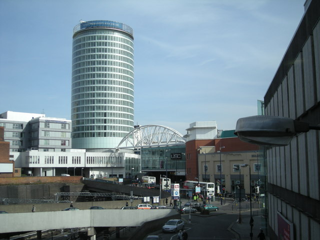 The Rotunda and an entrance to the 'Bullring' centre.