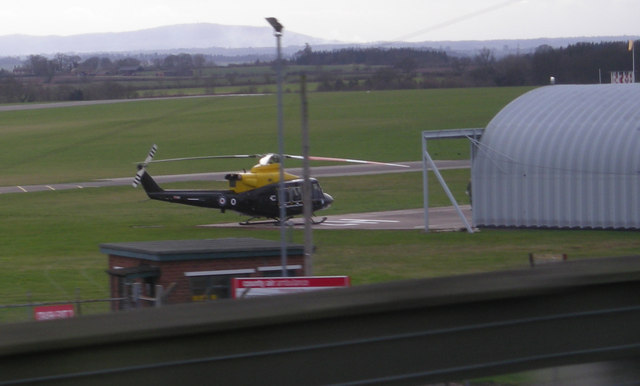 RAF Helicopter at RAF Cosford.